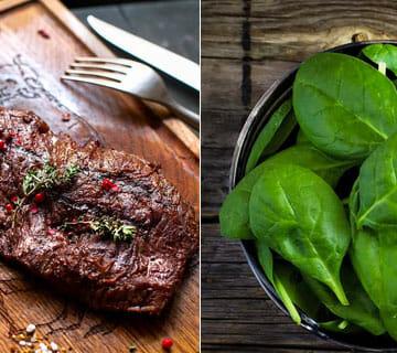 hemjärn och icke hemjärn rik mat